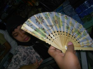 Beautiful Batik Fan from Yogya